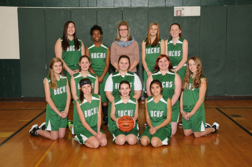 8th Grade Girls Basketball Team Picture
