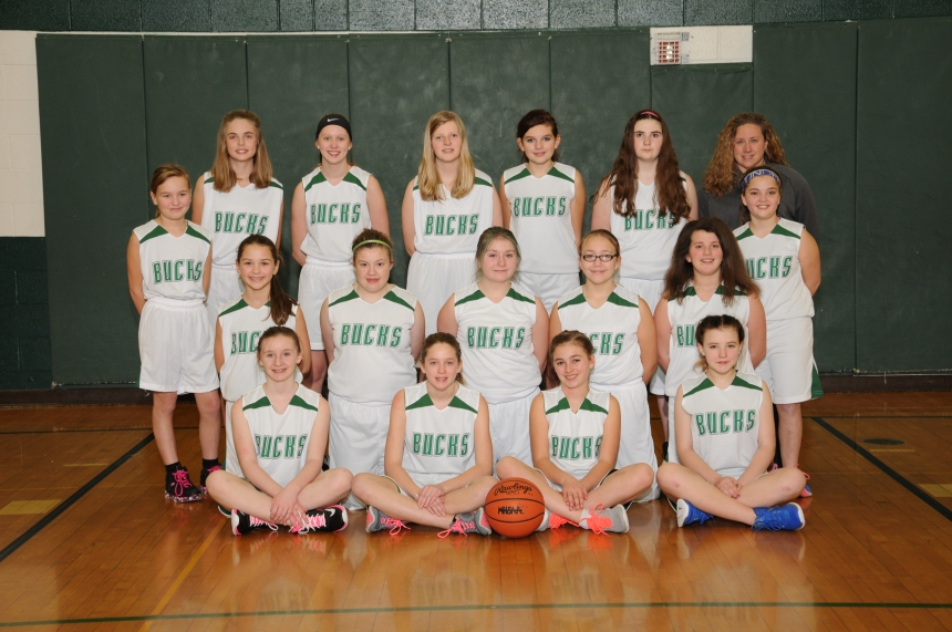 7th Grade Girls Basketball Team Picture